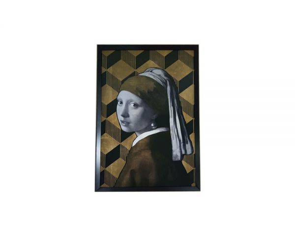 Picture girl w/pearl 64x3x94py