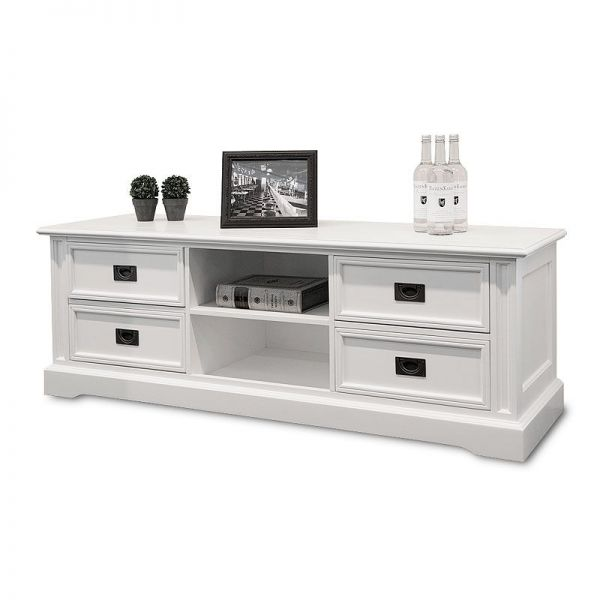 Cambridge Sideboard Television 166x50x52cm CL-TV-010 Pine/MDF Shining White