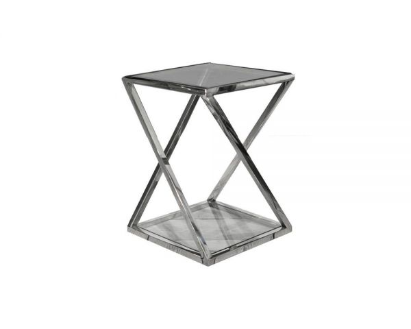 Side table stainless steel 40x40x55