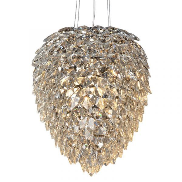Ceiling Lamp 34x34x39cm Iron/Glass Nickel Finished