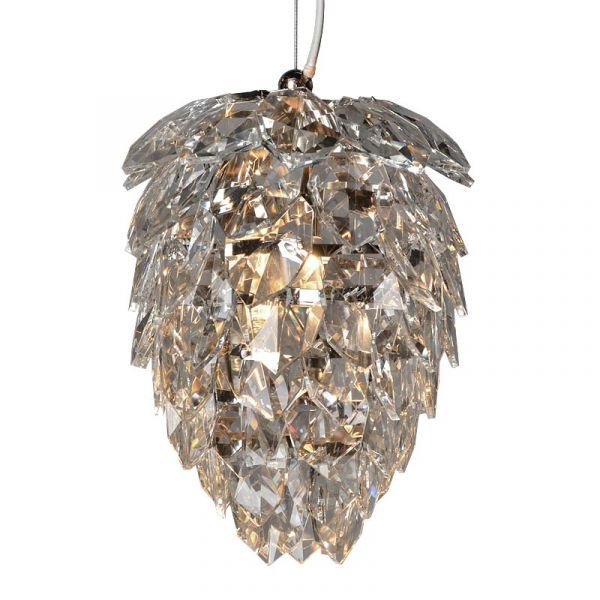 Ceiling Lamp 23x23x25cm Iron/Glass Nickel Finished